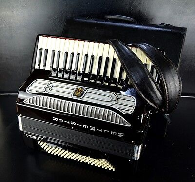 TOP PRO CASSOTTO ACCORDION WELTMEISTER SUPITA 120bass,16r.+CASE&BRAND NEW STRAPS