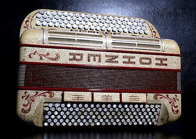 Unique Custom-Made Button Accordion Hohner Morino Artisteiin+New Straps~Cassotto