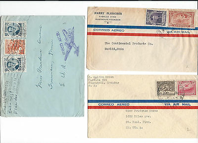 (1) 36 covers from Ecuador (Equateur) to .... see scans and details.