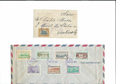 12 covers from Panama to .... see scans and details ...Expo  Brussels 1958.