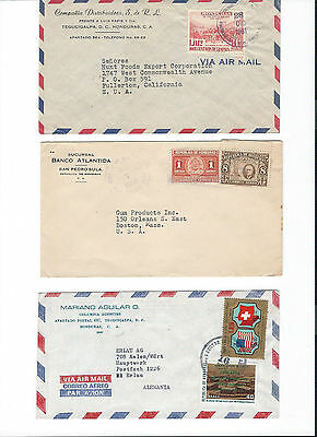 6 covers from Honduras to .... see scans and details.