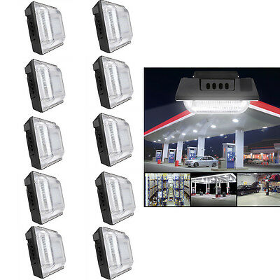 10 Pack LED Gas Station Canopy Light 50 Watt 5000K Daylight White 4500 Lumens