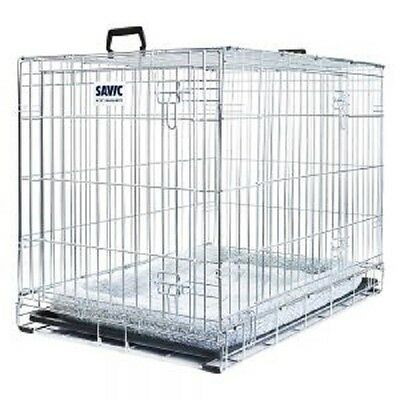 Dog Cage House Car Crate with cushion safe during transport safe at home X Large
