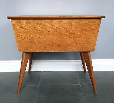 Mid Century Sewing Table - Vintage Sewing Box Coffee Table End Table Retro