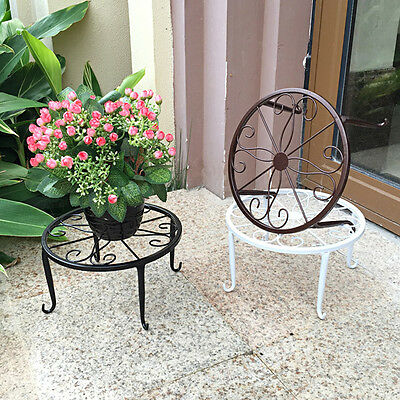Metal Pot Planter plant holder Stand Iron rack Garden Decor 3 Color  24*24*13cm