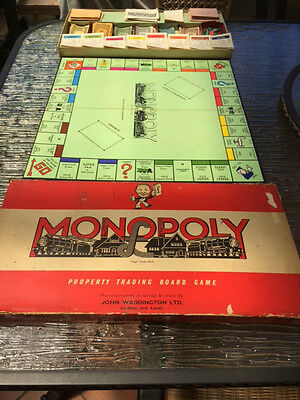 VINTAGE MONOPOLY BOARD GAME, boxed, complete