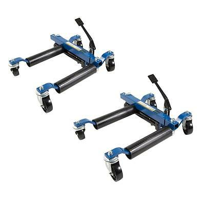 Hydraulic Tire Wheel Dollies Vehicle Car Auto Repair Lift Positioning Jack 2 Pc