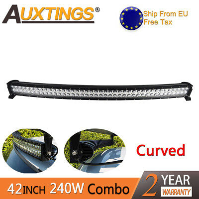 240W 40inch LED Light Bar Combo Beam Curved Work Off road Truck Boat SUV ATV