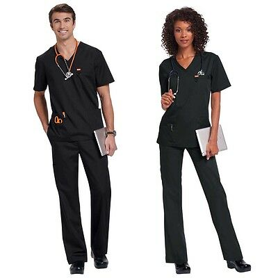Men Women Medical Scrub Top/Tunic/Trousers/Pants/Set Uniform - Orange Standard