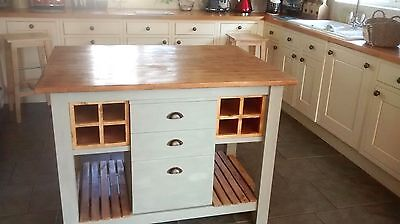 Bespoke Handmade Farmhouse kitchen island/Butchers block