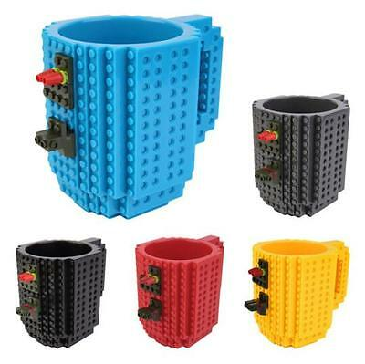 Build-on Brick Style Puzzle Mugs Frozen Creative DIY Coffee Mug Building Blocks