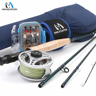 Fly Rod Outfit 9ft 4WT/5WT/6WT 4Pieces Fly Fishing Reel Pre-loaded Flies Box