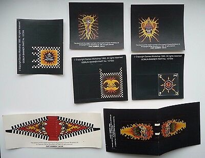 x7 Extremely Rare Unused 90's Warhammer Paper Banners