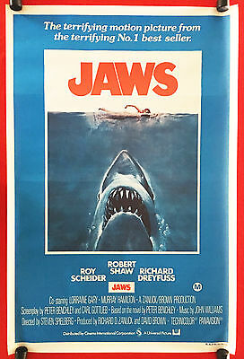 JAWS - Rare Original Vintage 1975 Australian One-Sheet ...