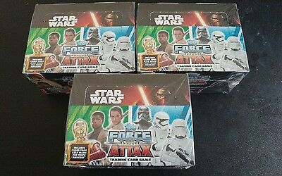 topps star wars trading cards sealed boxes x3 (see description)