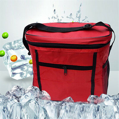 1Pcs Lunch Bag Outdoor Camping Oxford Cloth Insulated Cooler Travel Ice Box