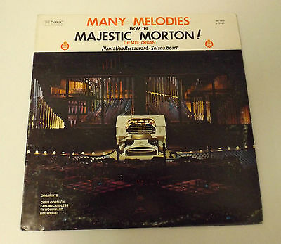 Many melodies from the majestic morton! LP Vinyl Organ Music Rare