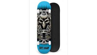 Tony Hawk Profi Skateboard Komplettboard Hawk Head Blue 7.75 inch
