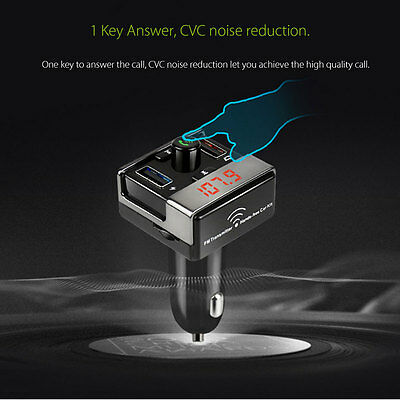 2.1A Bluetooth FM Transmetteur Voiture Sans Fil Main Libre USB Chargeur MP3 Kit