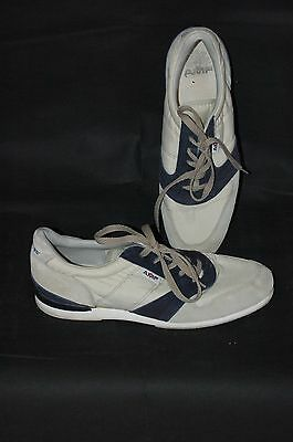 AMF Unisex Suede Beige & Navy Ten Pin Bowling Shoes - UK Size 9.5