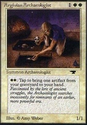 MTG Magic the Gathering - Argivian Archaeologist - Antiquities - Excellent