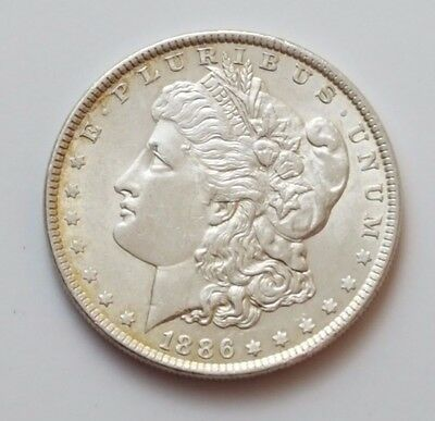 U.s.a - Dated 1886 - Silver - Morgan - $1 One Dollar Coin - American Silver Coin