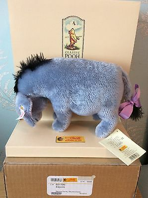 Steiff Eeyore From Winnie The Pooh Ean 651786 New In Box With Cert
