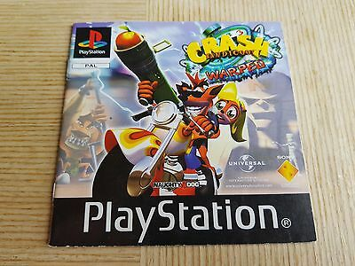 PS1 Playstation 1 Pal Instruction Manual Only CRASH BANDICOOT 3 WARPED No 1