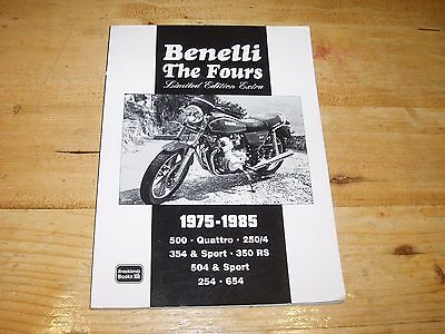 Benelli The Fours 1975-1985  Limited Edition Extra. Brooklands Road Test Book.