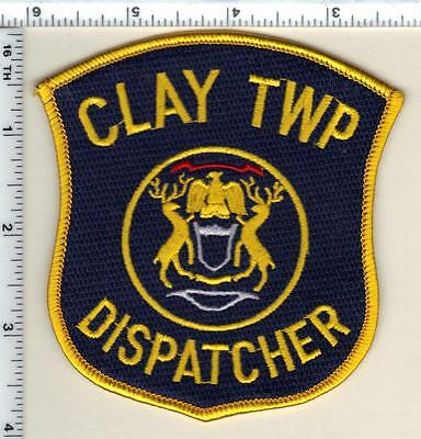 Clay Township Dispatcher (Michigan)  Shoulder Patch  - new from 1991