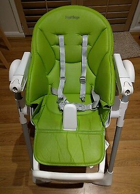 peg perego high chair - green color