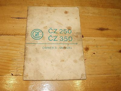 Original Manufacturers Owners Manual for CZ  250 & CZ 350