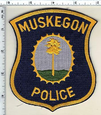 Muskegon (old style) Police (Michigan)  Shoulder Patch  - new from 1991