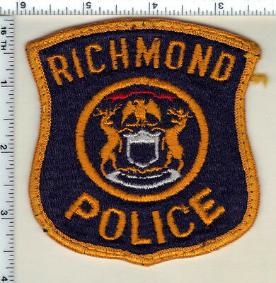 Richmond Police (Michigan) Uniform Take-Off  Patch from 1991