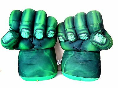 Marvel Incredible Hulk Smask Hands With Talking/sound Effects One Pair