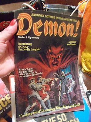 Rare Demon! Horror Comic 1978 First Issue!