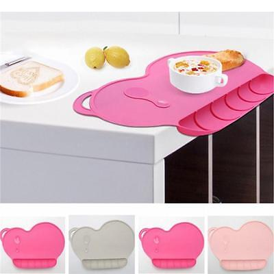 Baby Silicone Dinner Plate Non-slip Placemat Waterproof Snack Mat Kids Food Tray