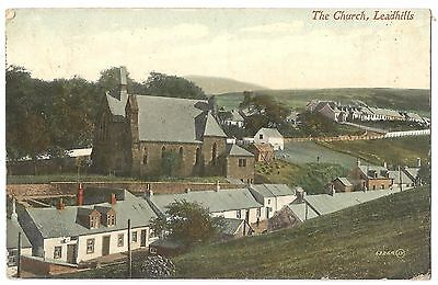Old Postcard 'The Church' Leadhills Glasgow - Early 1900's