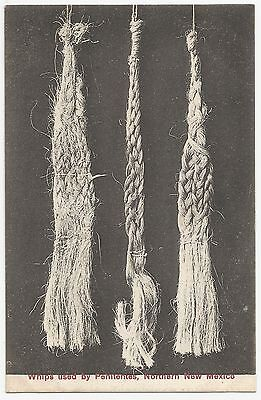 Old Early Postcard 'Whips Used by Penitentes' Northern New Mexico