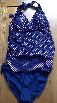 New Mothercare Tankini Maternity Swimming Costume Navy 10 Blooming Marvellous