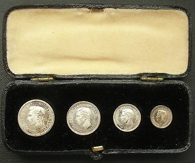 George VI 1949 Maundy set in dated case matching, tones