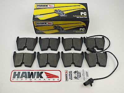 Audi RS4, RS5, RS6 & R8 Front Low Dust Hawk Performance Ceramic Brake Pads