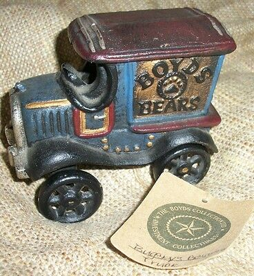 Boyds Bears Cast Iron Accessory Old Fashioned Bugsby's Getaway Truck NEW NWT