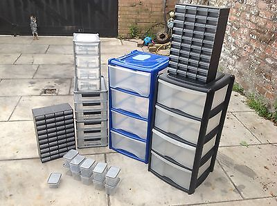 Craft Plastic Storage Boxes/shed/hobby/drawers