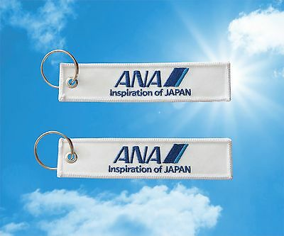 "ANA - All Nippon Airways ""Inspiration of Japan"" keychain keyring luggage tag"