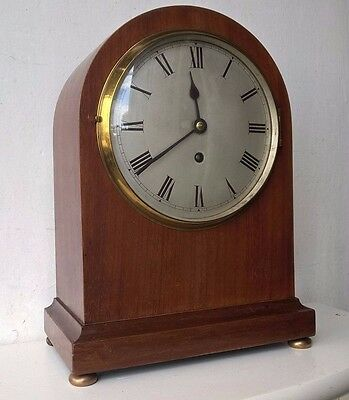 Impressive Smiths French Mahogany Cased Mantle Clock - Country House - Working