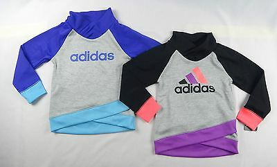 adidas Little Girls' Heather Push Up Pullover sweater sizes 4,5,6,6X