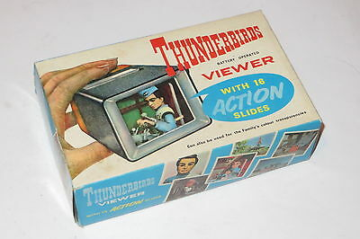 very rare thunderbirds gerry anderson Fairylite vintage viewer + action slides