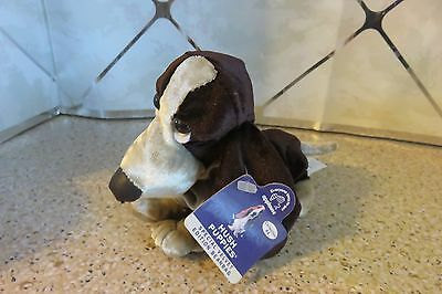HUSH PUPPIES Plush Special Velvet Edition Beanbag Brown DOG Two Tone New w/ Tags