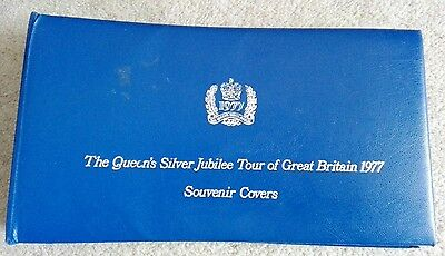 Queen's silver jubilee 1977 first covers stamps in album